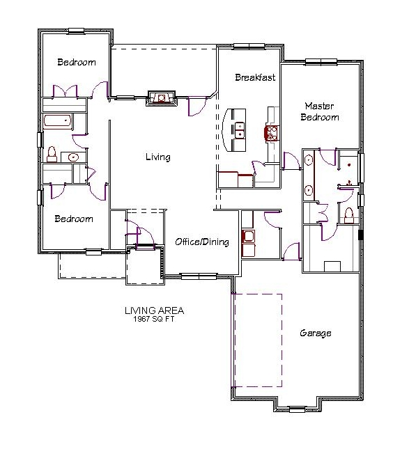 96 Floor Plans With No Dining Room Craftsman House