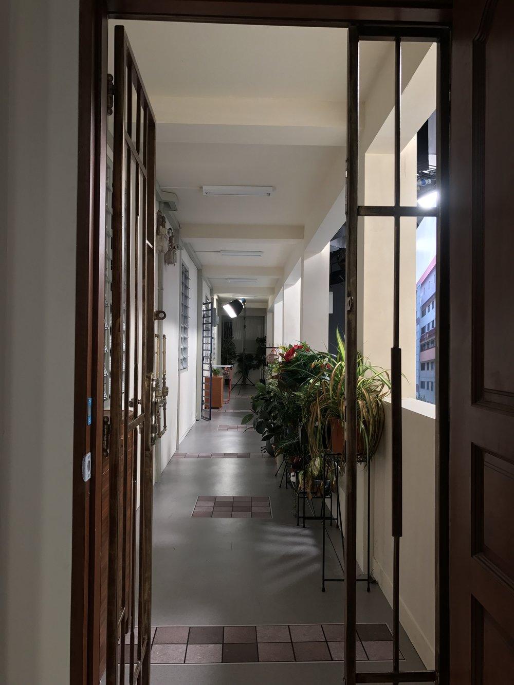Realistic common corridor of HDB