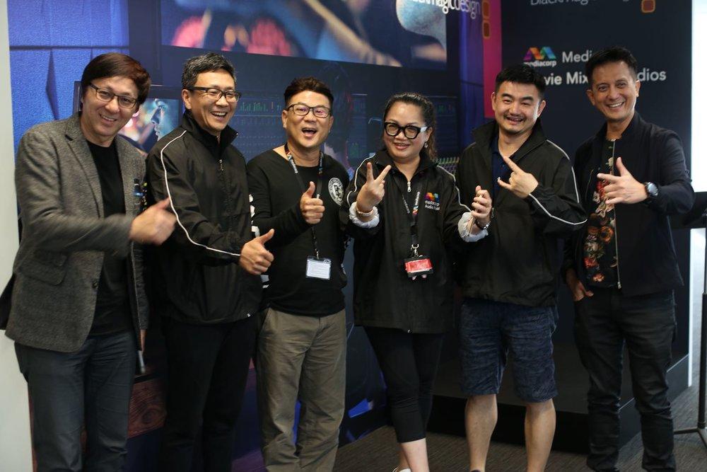 From left : Chang Long Jong, Jacky Huang, Jack Neo, Mo Ju Li, Aero Chen & Barry See.