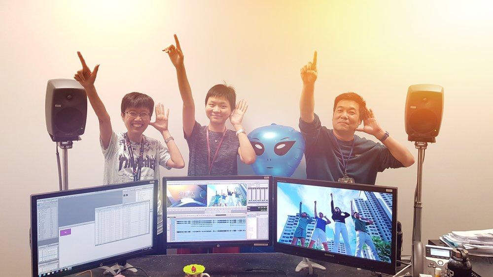 From left : Video editors Joyce Teo, Tan Si Ya and Simon Poon.