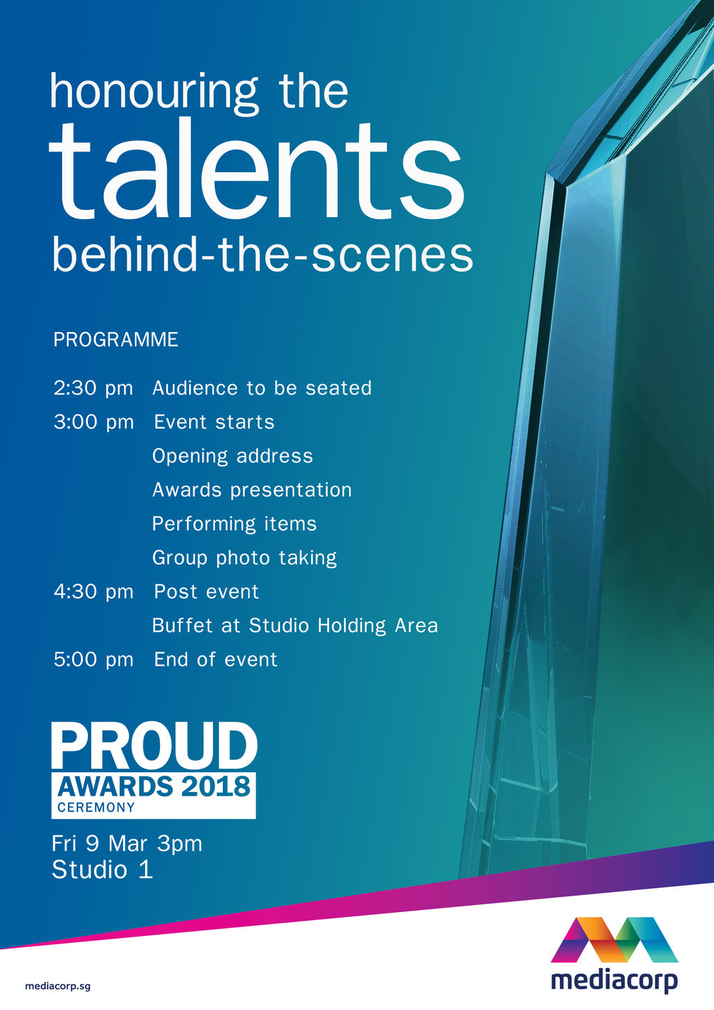 The event poster of Proud Awards ceremony
