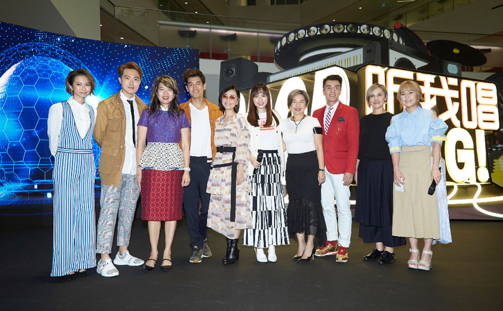 Media launch of S-Pop Sing! at Mediacorp Campus Level 9 Atrium
