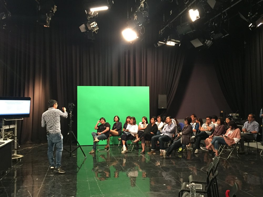 First VR introduction conducted by Cgang at Mediacorp Studio Four.