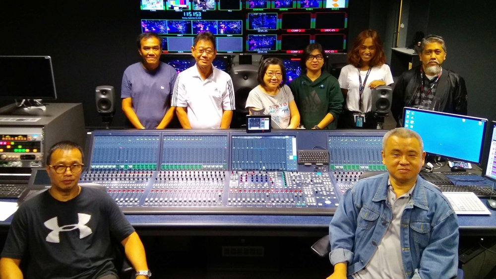 Lee Mun Tong and the Studio audio team