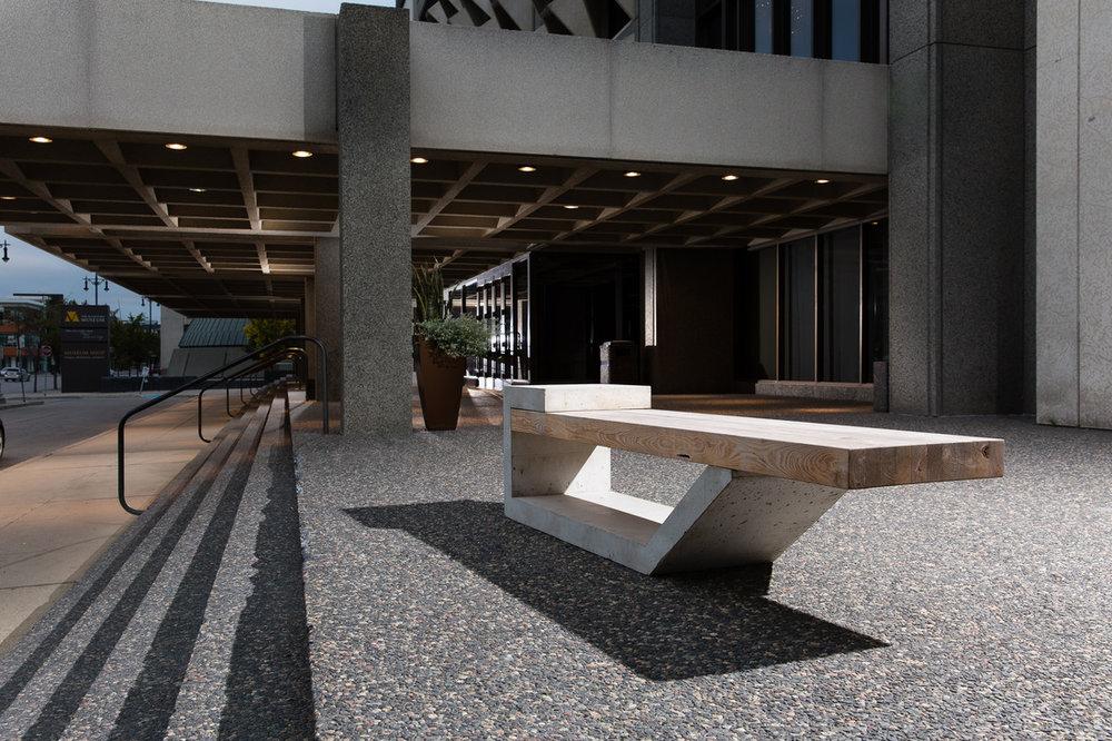 Barkman Concrete Bench | Winnipeg, MB Canada