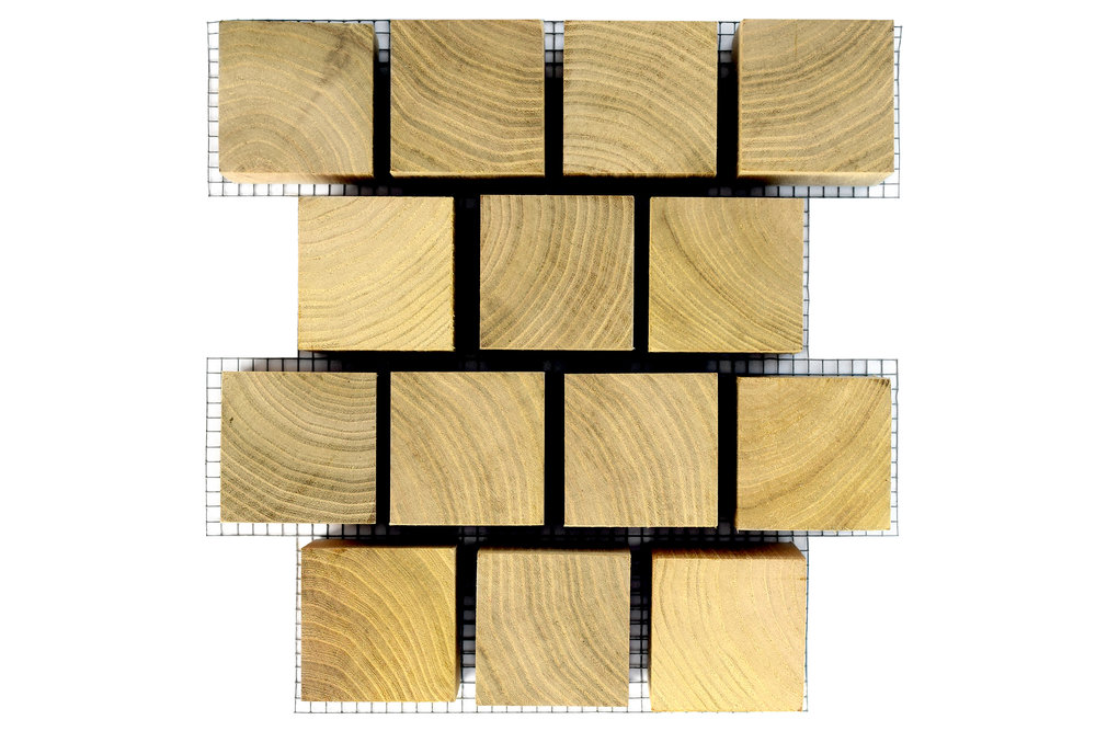 Patterned Black Locust Lumber USA Paver