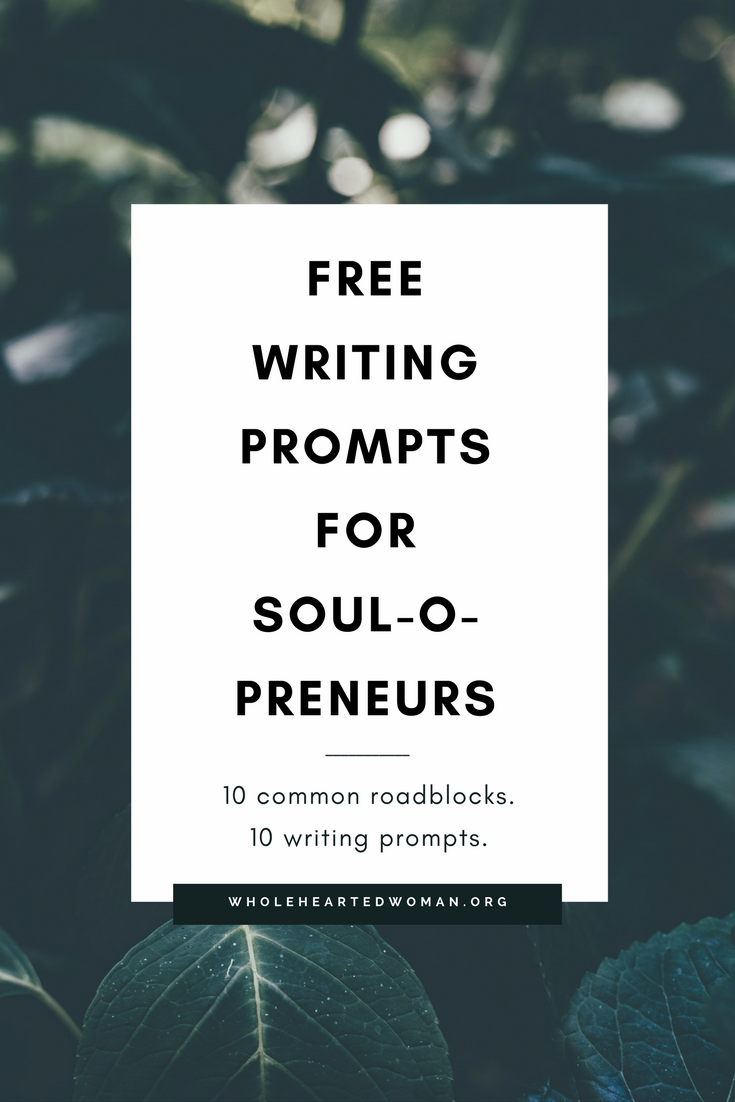 Free Writing Prompts For Soulopreneurs | Free Resource | Journaling Ideas | Finding Yourself | Personal Development