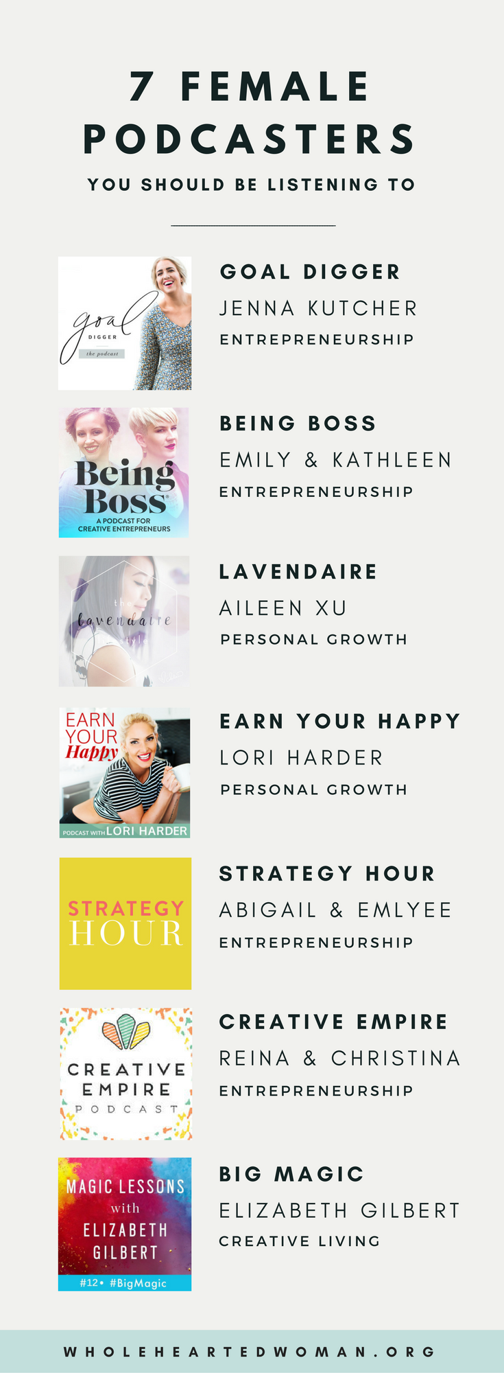 7 Female Podcasters You Should Be Listening To | Personal Growth & Development | Life Advice | Entrepreneurship | Podcasts