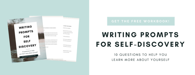 Free Writing Prompts | Self-Discovery | Free Resource | Printable | Workbook | Wholehearted Woman