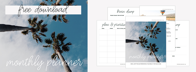 Wholehearted Woman - Monthly Planner - Free Download