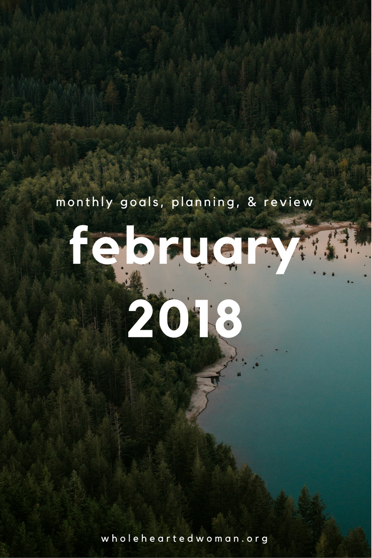 Monthly Goals, Planning, & Review February 2018 | Goal Setting | Setting Monthly Goals | Monthly Planner | How To Stay On Track With Your Goals | Month In Review | Blog Monthly Recap |How To Keep Yourself Accountable | Monthly Goal Setting | How To Plan Your Month | Preparing For Success | How To Set Goals And Achieve Them | Productivity | Personal Growth and Development | Wholehearted Woman | #productivity | #monthlygoals | #goals | #goalsetting | #personaldevelopment