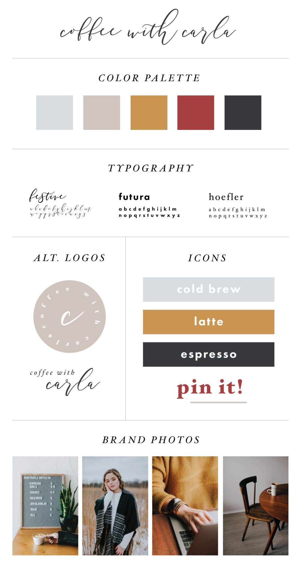 Premade Branding & Logo Kit | Branding Kit for Coffee Shops | Coffee Bloggers | Coffee Shops | Branding Design | Brand Identity | Branding Kits | Branding For Businesses | Logo Design | Brand Design | Branding | Brand Board | Branding For Creative Entrepreneurs and Small Business Owners