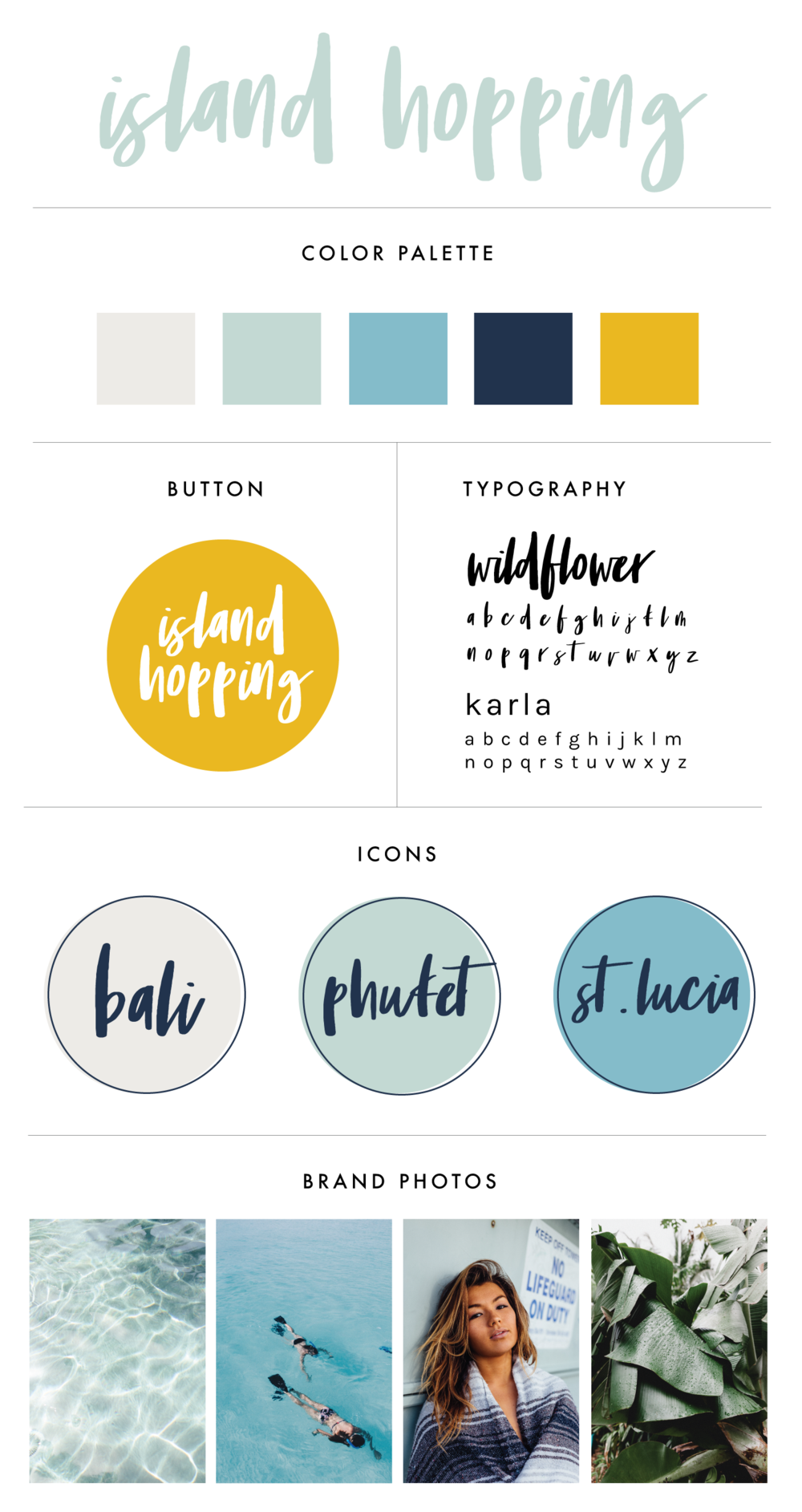 Premade Branding & Logo Kit | Branding Kit for Travel Bloggers | Travel Inspiration | Travel Photographers and Bloggers | Branding Design | Brand Identity | Branding Kits | Branding For Businesses | Logo Design | Brand Design | Branding | Brand Board | Branding For Creative Entrepreneurs and Small Business Owners | Island Travel Brand