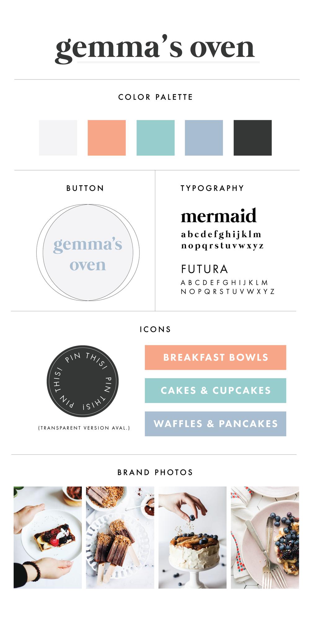 Premade Branding & Logo Kit | Branding Kit for Food Bloggers | Branding for Bakeries | Branding Design | Brand Identity | Branding Kits | Branding For Businesses | Logo Design | Brand Design | Branding | Brand Board | Branding For Creative Entrepreneurs and Small Business Owners | Branding for Food Photographers