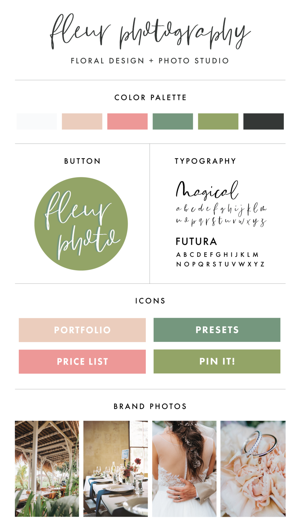 Premade Branding & Logo Kit | Branding Kit for Photographers | Wedding Inspiration | Wedding Photographers | Branding Design | Brand Identity | Branding Kits | Branding For Businesses | Logo Design | Brand Design | Branding | Brand Board | Branding For Creative Entrepreneurs and Small Business Owners