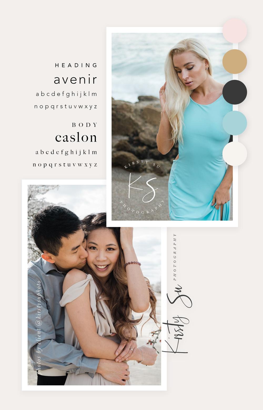 Kirsty Su Photography | Branding and Graphic Design for Female Entrepreneurs | Brand Identity Design | Branding Color Palette | Brand Design Inspiration | Brand Board | Color Palette Inspiration | Minimalist Brand Design | Branding Board | Logo Design Inspiration | Visual Identity | Brand Guidelines | Molly Ho Studio