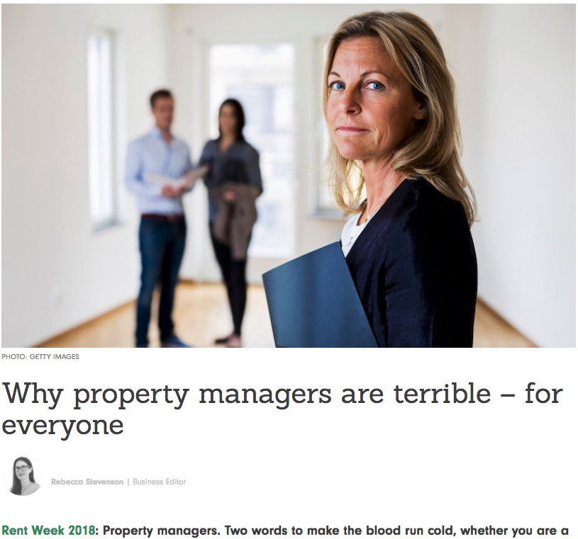 This article caused quite a stir in the Property Management industry. We asked Ms Stevenson if we could respond to this article via The Spinoff. She declined.