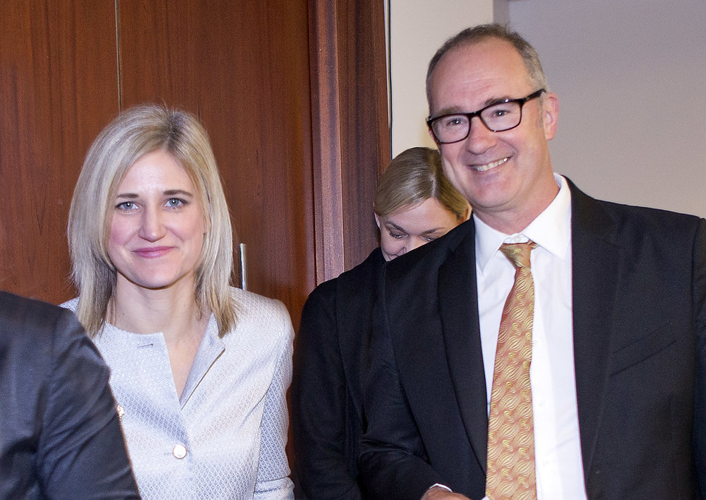 REINZ CEO Bindi Norwell with Housing Minister Phil Twyford at the recent REINZ Conference in Auckland