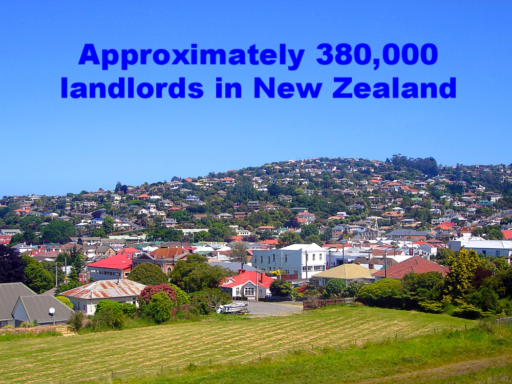 Of the thousand of properties that we see, the average property to landlord ration is about 1.4 properties per landlord. About 90% of landlords in New Zealand own one or two properties.