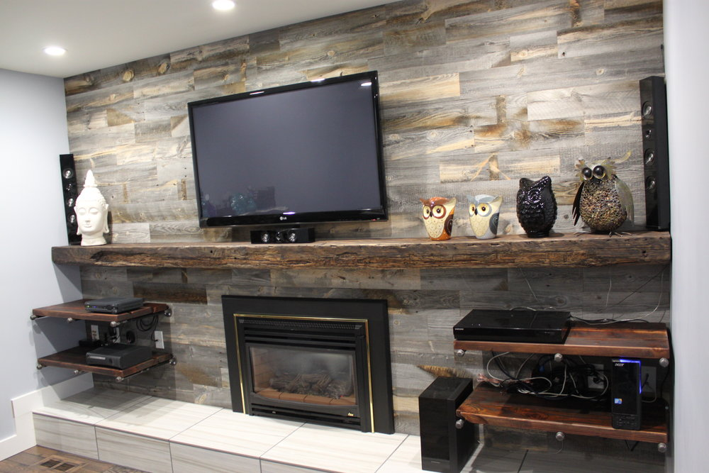 Ebony Fir Timber Mantle with Ebony Fir Shelves.JPG