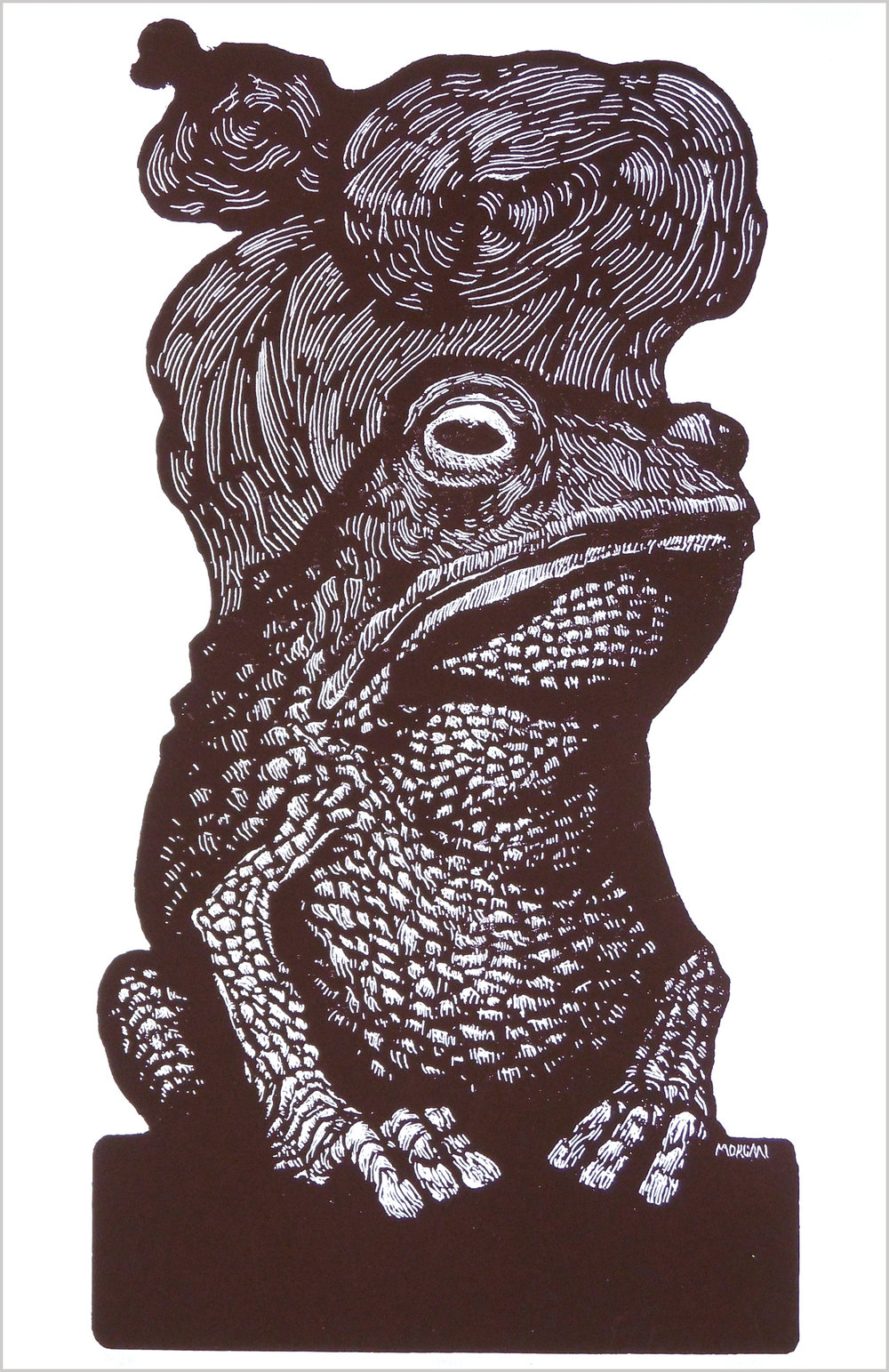 Toad screenprint Throwing Bones