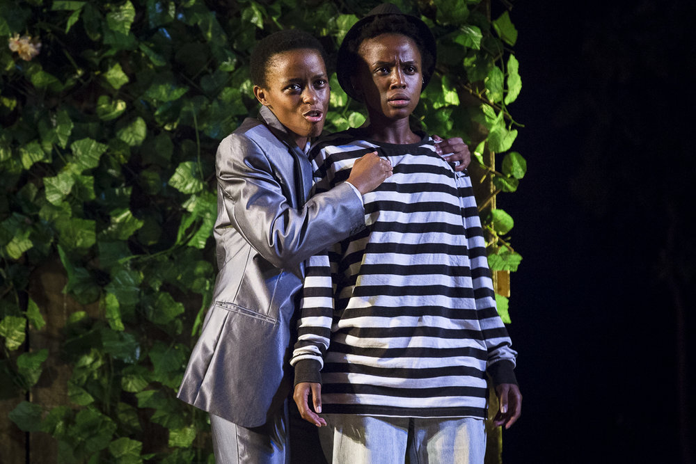 Naledi Majola - as Tranio (left)