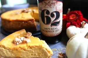 Pumpkin Ale Cheesecake & Beer Caramel Sauce