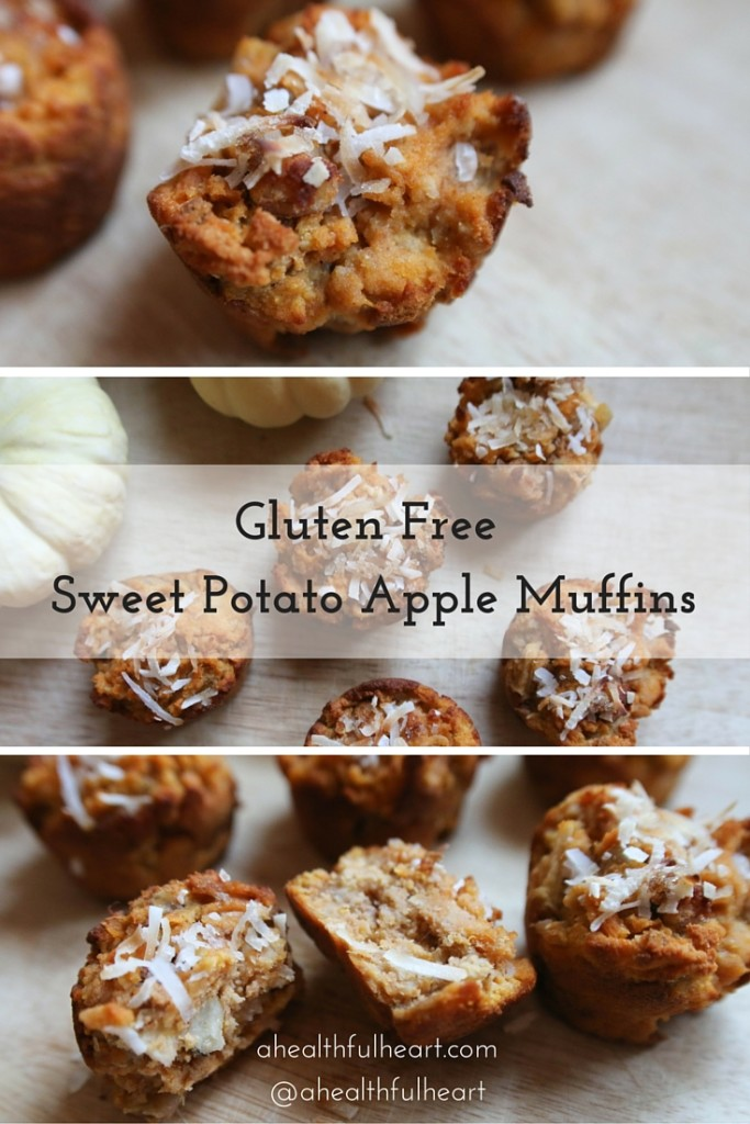 Gluten Free Sweet Potato Apple Muffins via ahealthfulheart.com!