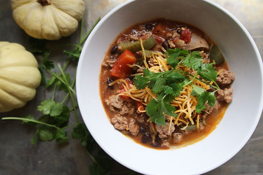 Turkey Black Bean Chili | ahealthfulheart.com