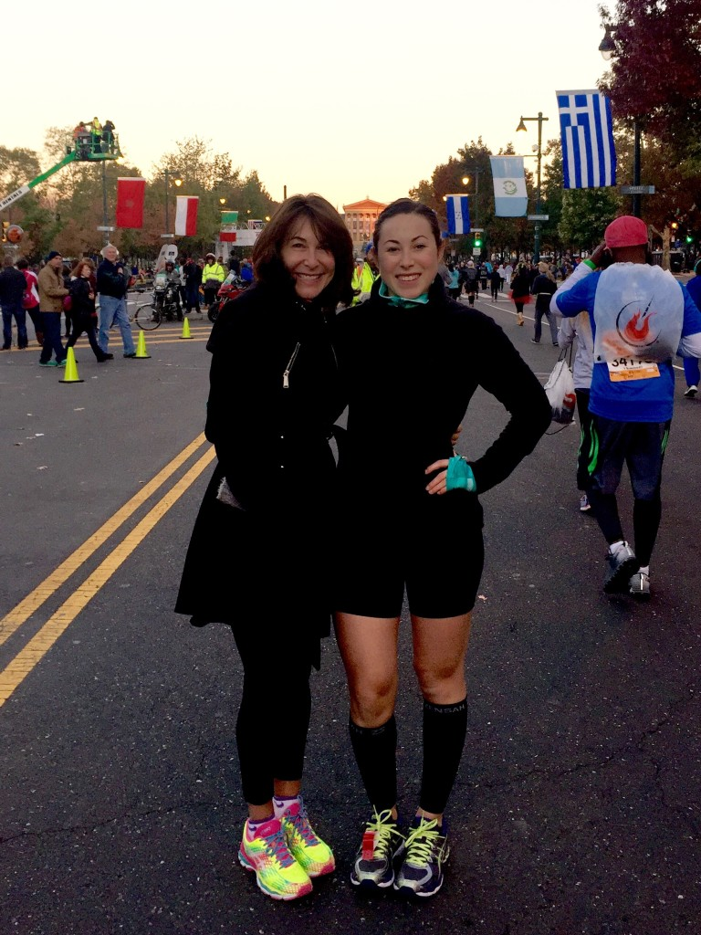 Mom and I at the starting line!