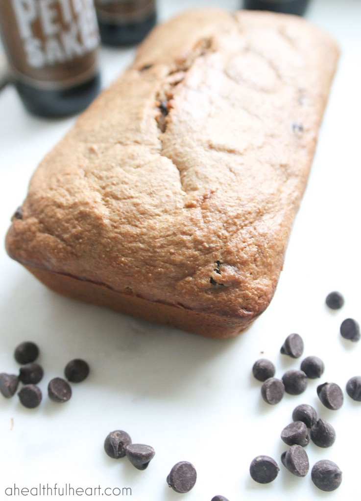 Chocolate Porter Whole Wheat Banana Bread via ahealthfulheart.com