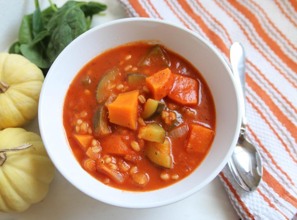 Healthy Vegetable Barley Soup via ahealthfulheart.com