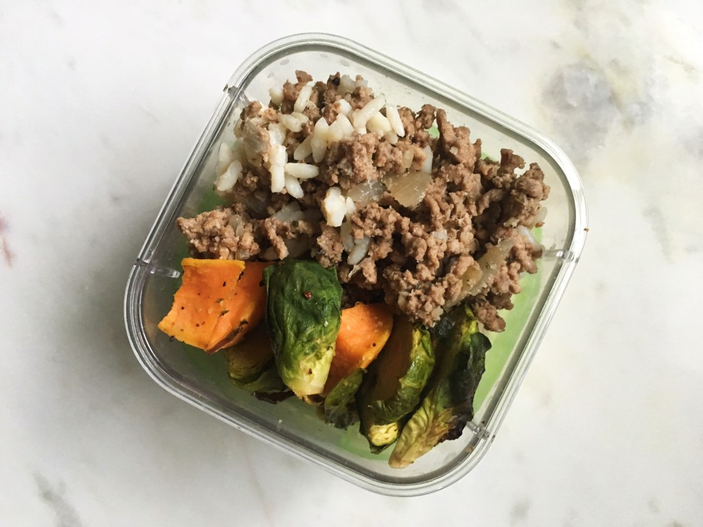 Ground Beef, Veggie and Rice Bowl