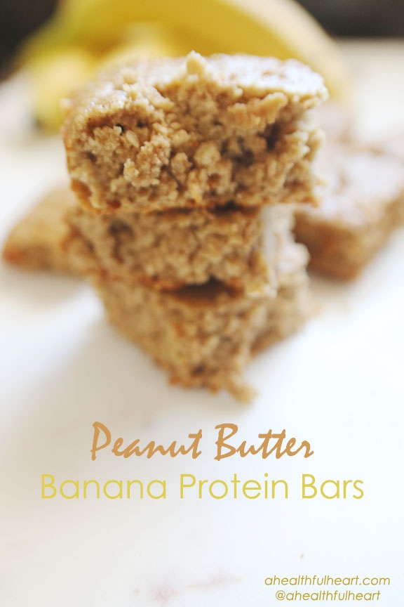 Peanut Butter Banana Protein Bars!