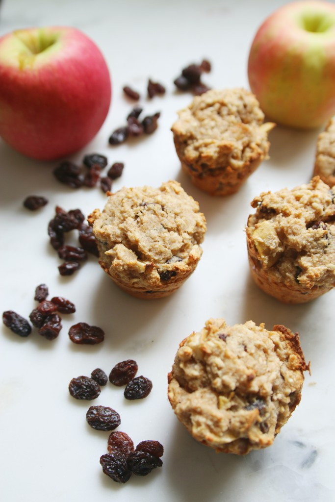 Healthy Apple Cinnamon Raisin Muffins! ahealthfulheart.com
