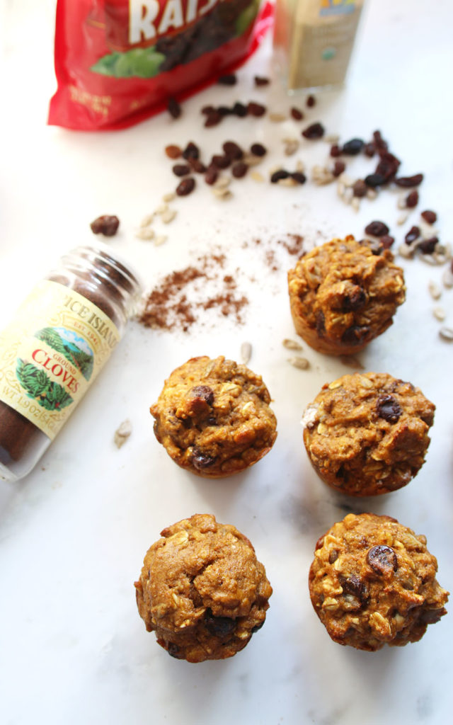 Spiced Carrot Muffins via ahealthfulheart.com