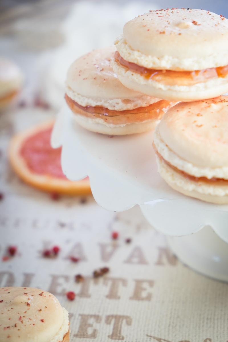 pink-grapefruit-rose-macaron