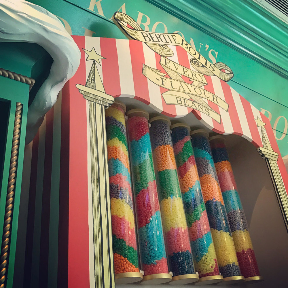 Honeydukes is located in Hogsmeade in the Islands of Adventure portion of the park.