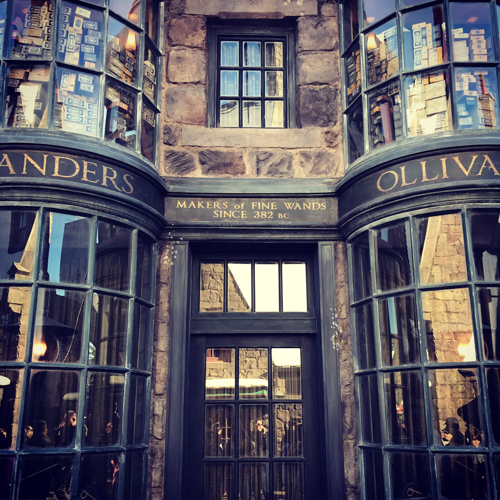 Ollivander's has the best selection of interactive wands, including ones for the more obscure characters from the books.