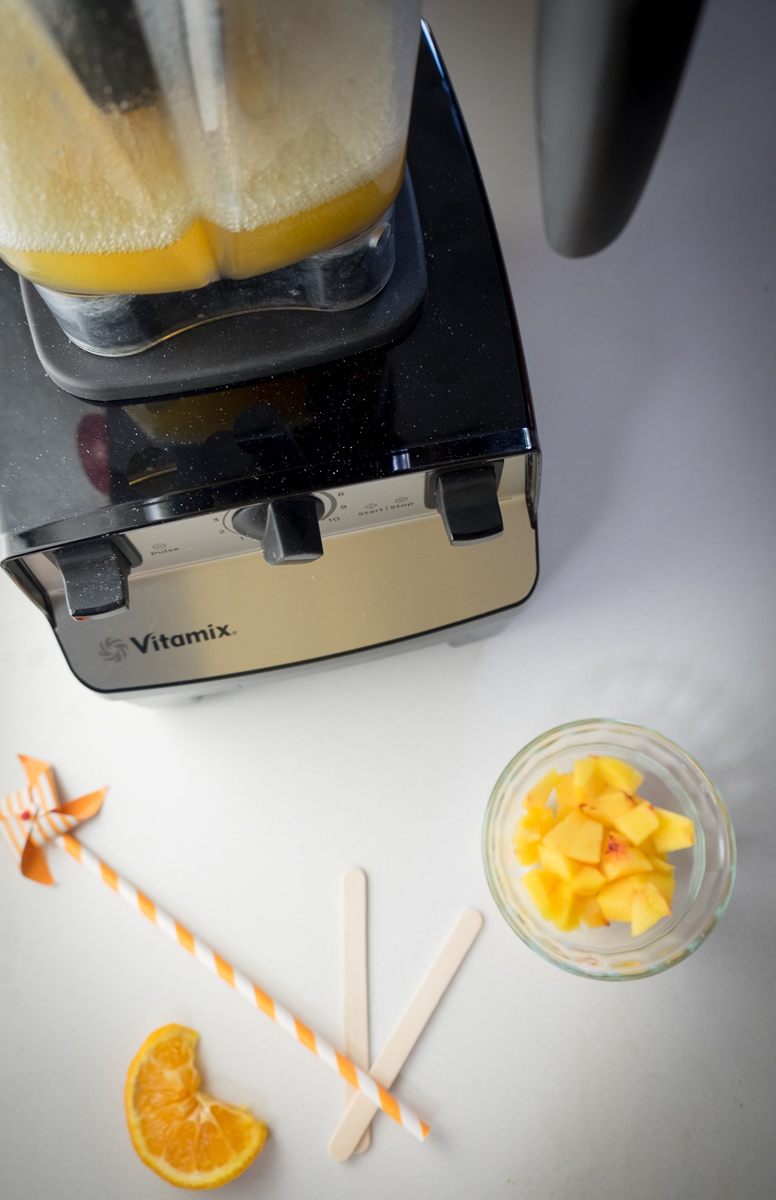 Peachy Orange Sangria Pops Blender