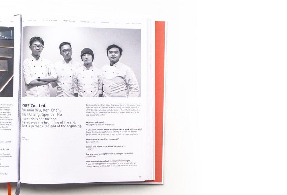 iCHEF Red Dot Design Award