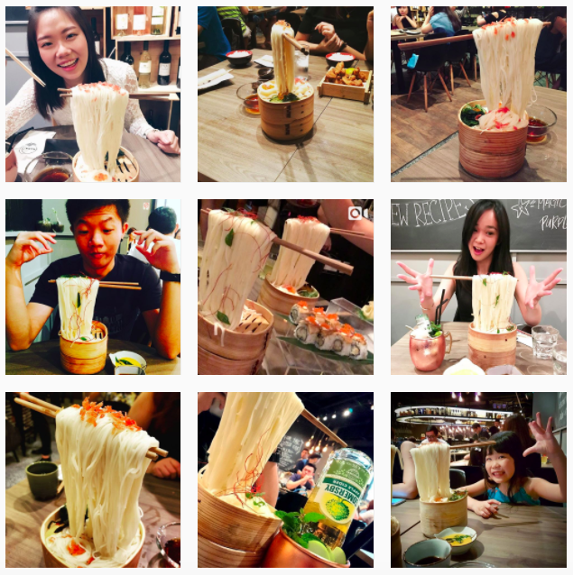 Photos of Flying Noodles on Instagram
