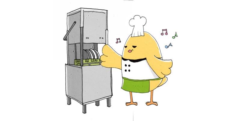 圖一/ 桌下型洗碗機多用於小型餐廳或是專門用來洗飲料杯具。掀門式的洗碗機則在目前在餐廳使用率與接受度比較高。
