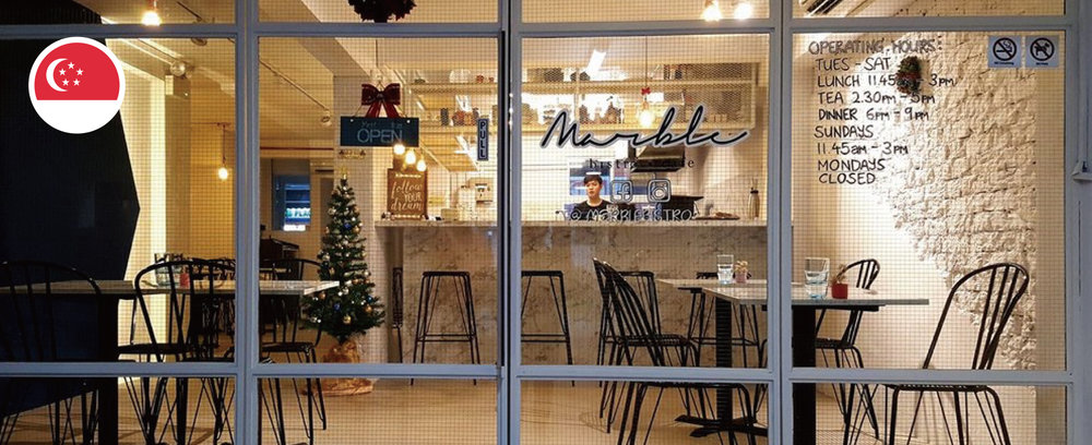 Marble Bistro in Singapore, using iCHEF POS System