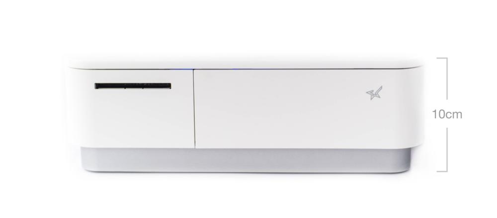 mPOP 出單錢櫃一體機 加上iCHEF iPad POS 就是餐廳櫃檯的錢櫃收銀機。尺寸僅 30x30.8x10cm