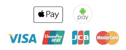 VISA, Master, JCB, 銀聯, Apple Pay 等都支援