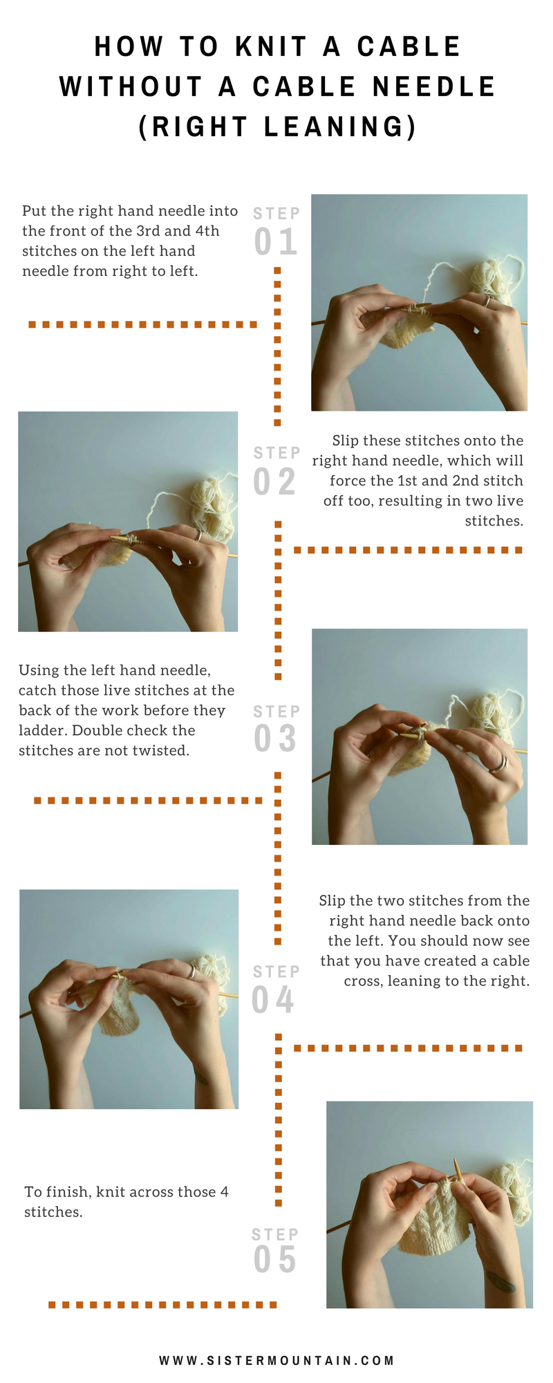 How to Knit a Cable Without a Cable Needle