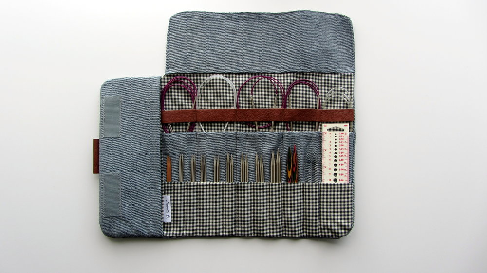 I invested in this handy interchangeable needle case from JesabelleB on Etsy. Whilst it's not essential for everyone, I do find it extremely useful and consider it a must for my own knitting kit.
