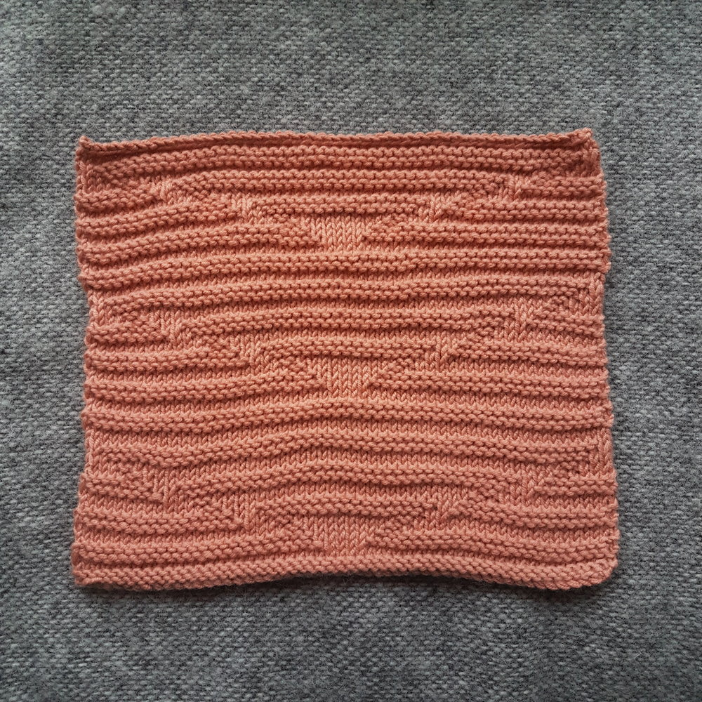 Delaunay Knitting Stitch: Front