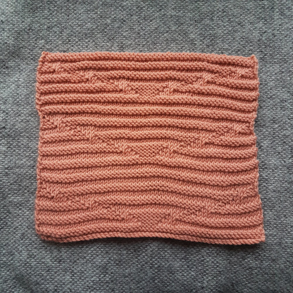 Delaunay Knitting Stitch: Back